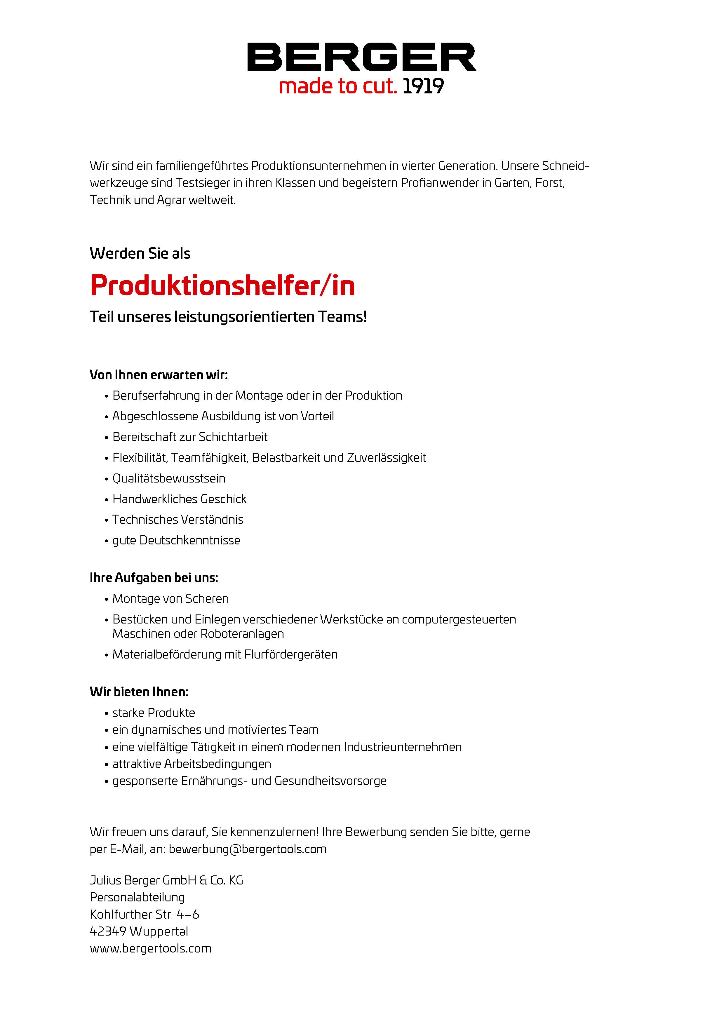 produktionshelfer - Teamfhigkeit Bewerbung
