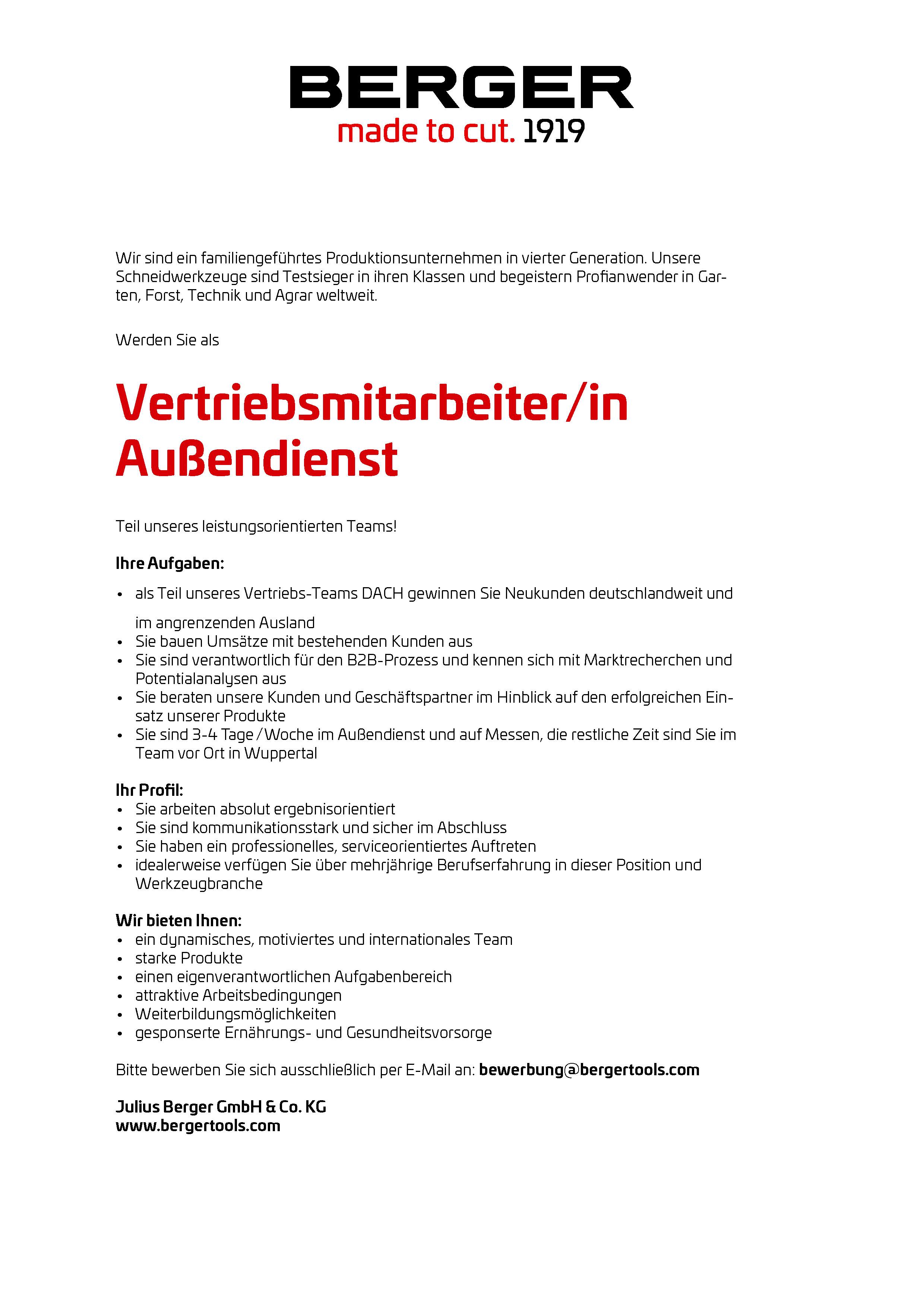 careers at julius berger gmbh co kg - Bewerbung Auendienst