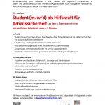 Stellenangebot Student (m/w/d) als Hilfskraft für Arbeitssicherheit